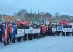 Жители Майского провели митинг против разорения Пермскогосвинокомплекса