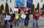 Польша: Протест у штаб-квартиры «Поломаркет»