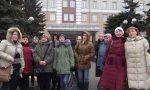 Жильцы общежитий идут кмэрии