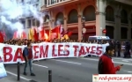 В Барселоне прошел студенческий маршпротеста