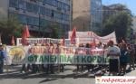 Забастовщики завалили вход в МВД Грециимусором