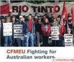 CFMEU даёт отпор горнодобывающему гиганту