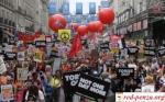 Митинг против экономии вЛондоне